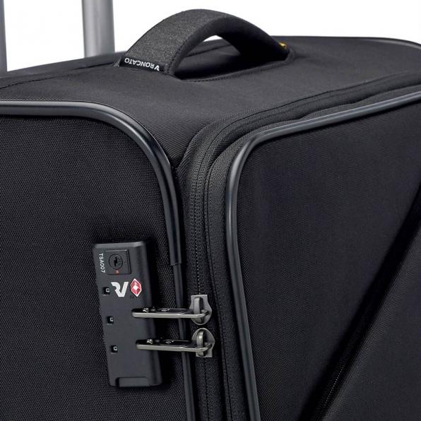 خرید و قیمت چمدان رونکاتو ایران مدل هایپر رنگ مشکی سایز کابین رونکاتو ایتالیا – roncatoiran HYPER RONCATO ITALY 41685301 1