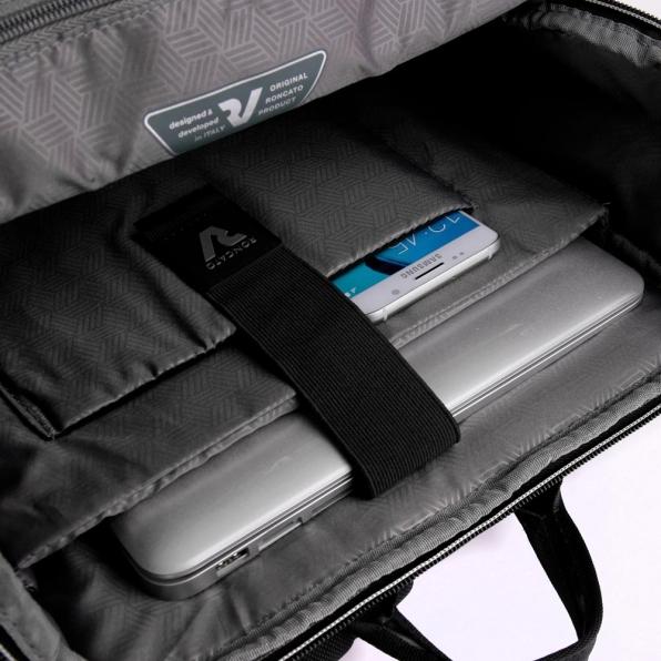 خرید و قیمت کوله پشتی لپ تاپ رونکاتو ایران مدل رادار رنگ مشکی سایز 17 اینچ تک تبله رونکاتو ایتالیا – roncatoiran RADAR RONCATO ITALY 41719101 3
