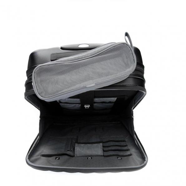 خرید چمدان رونکاتو ایران مدل اُنو بیز سایز کابین رنگ مشکی رونکاتو ایتالیا – RONCATO ITALY UNO BIZ 41952301 roncatoiran 3