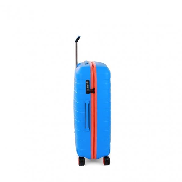 چمدان رونکاتو ایتالیا مدل باکس یانگ سایز متوسط رنگ آبی رونکاتو ایران –  BOX YOUNG MEDIUM RONCATO ITALY 55421208 roncatoiran 1