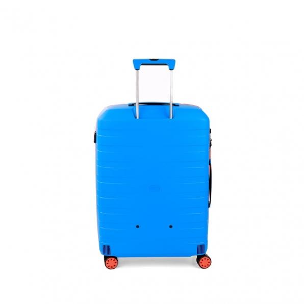 چمدان رونکاتو ایتالیا مدل باکس یانگ سایز متوسط رنگ آبی رونکاتو ایران –  BOX YOUNG MEDIUM RONCATO ITALY 55421208 roncatoiran 2