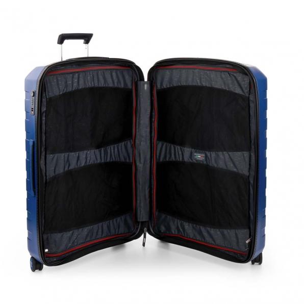 خرید و قیمت چمدان رونکاتو ایتالیا مدل باکس 4 سایز بزرگ رنگ آبی رونکاتو ایران  – roncatoiran BOX 4.0 CABIN SIZE RONCATO ITALY 55610183  4