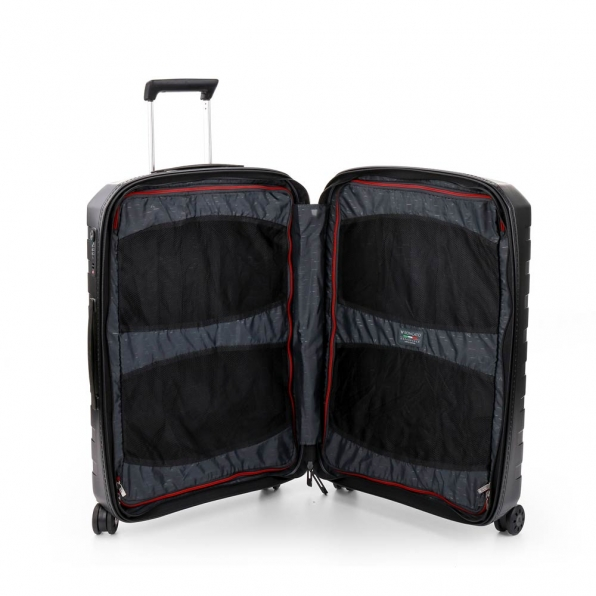 قیمت چمدان رونکاتو ایتالیا مدل باکس 4 سایز متوسط رنگ مشکی رونکاتو ایران  – roncatoiran BOX 4.0 CABIN SIZE RONCATO ITALY 55620101  4