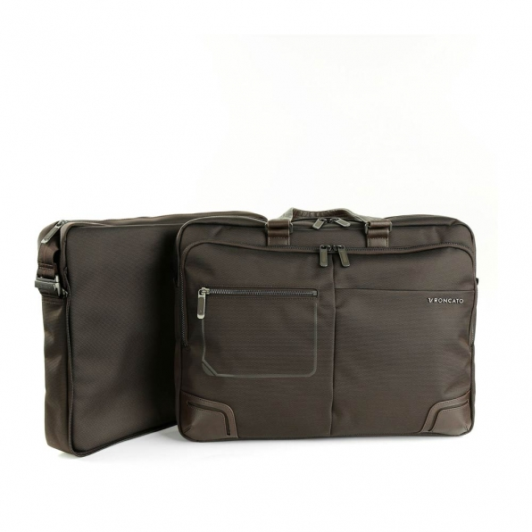 خرید و قیمت کیف دستی لپ تاپ رونکاتو مدل وال استریت رنگ قهوه ای سایز 15.6 اینچ رونکاتو ایتالیا – roncatoiran WALL STREET RONCATO ITALY 41215244 4