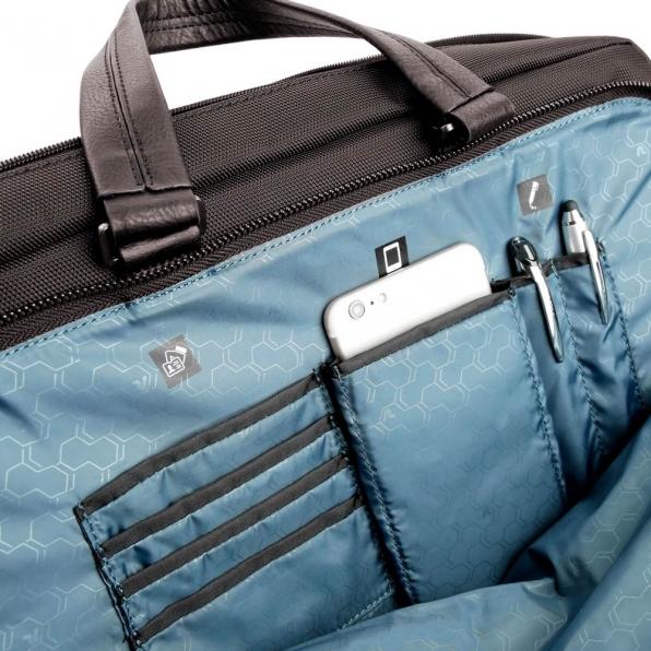 خرید و قیمت کیف دستی لپ تاپ رونکاتو مدل وال استریت رنگ قهوه ای سایز 15.6 اینچ رونکاتو ایتالیا – roncatoiran WALL STREET RONCATO ITALY 41215244 5