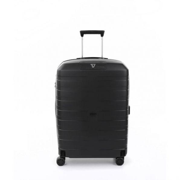 قیمت چمدان رونکاتو ایتالیا مدل باکس 4 سایز متوسط رنگ مشکی رونکاتو ایران  – roncatoiran BOX 4.0 CABIN SIZE RONCATO ITALY 55620101