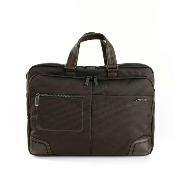 خرید و قیمت کیف دستی رونکاتو مدل وال استریت رنگ قهوه ای سایز 15.6 اینچ رونکاتو ایتالیا – roncatoiran WALL STREET RONCATO ITALY 41215044