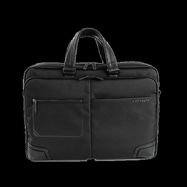 خرید و قیمت کیف دستی لپ تاپ رونکاتو مدل وال استریت رنگ مشکی سایز 15.6 اینچ رونکاتو ایتالیا – roncatoiran WALL STREET RONCATO ITALY 41215201