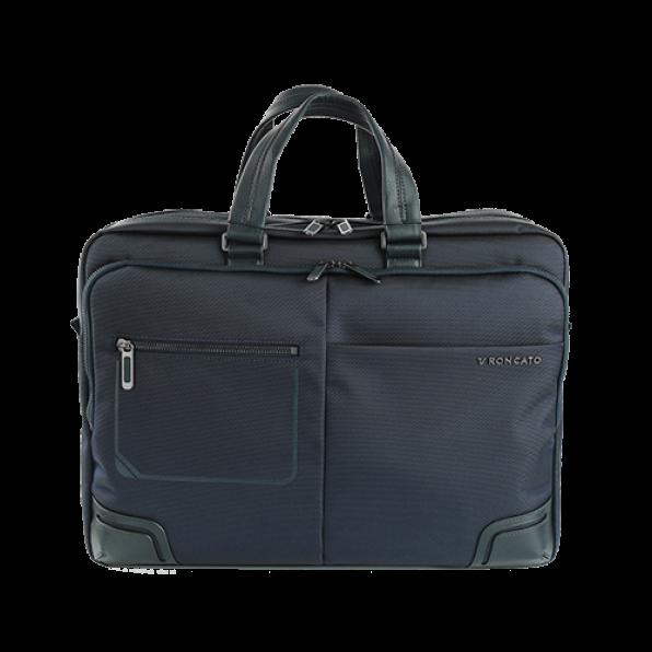 خرید و قیمت کیف دستی لپ تاپ رونکاتو مدل وال استریت رنگ سرمه ای سایز 15.6 اینچ رونکاتو ایتالیا – roncatoiran WALL STREET RONCATO ITALY 41215223
