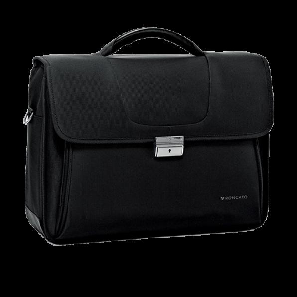 خرید و قیمت کیف دستی لپ تاپ رونکاتو مدل سلیو رنگ مشکی سایز 15.6 اینچ دو تبله رونکاتو ایتالیا – roncatoiran CLIO RONCATO ITALY 41225001