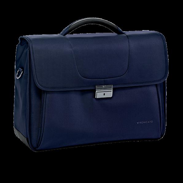 خرید و قیمت کیف دستی لپ تاپ رونکاتو مدل سلیو رنگ سرمه ای سایز 15.6 اینچ دو تبله رونکاتو ایتالیا – roncatoiran CLIO RONCATO ITALY 41225023