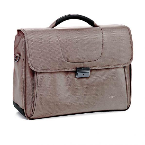 خرید و قیمت کیف دستی لپ تاپ رونکاتو مدل سلیو رنگ بژ سایز 15.6 اینچ دو تبله رونکاتو ایتالیا – roncatoiran CLIO RONCATO ITALY 41225014