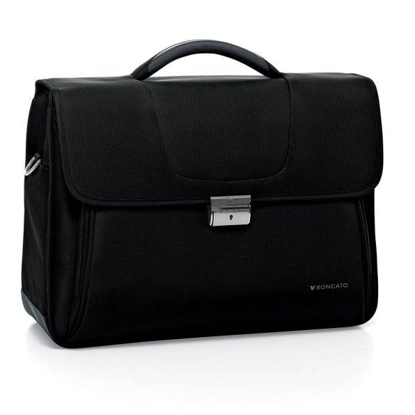 خرید و قیمت کیف دستی لپ تاپ رونکاتو مدل سلیو رنگ مشکی سایز 15.6 اینچ سه تبله رونکاتو ایتالیا – roncatoiran CLIO RONCATO ITALY 41225101