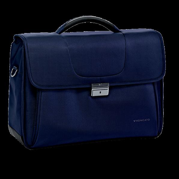 خرید و قیمت کیف دستی لپ تاپ رونکاتو مدل سلیو رنگ سرمه ای سایز 15.6 اینچ سه تبله رونکاتو ایتالیا – roncatoiran CLIO RONCATO ITALY 41225123