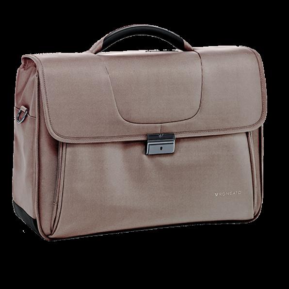 خرید و قیمت کیف دستی لپ تاپ رونکاتو مدل سلیو رنگ بژ سایز 15.6 اینچ سه تبله رونکاتو ایتالیا – roncatoiran CLIO RONCATO ITALY 41225114